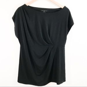 Lane Bryant Plus Size Black Blouse Size 14/16